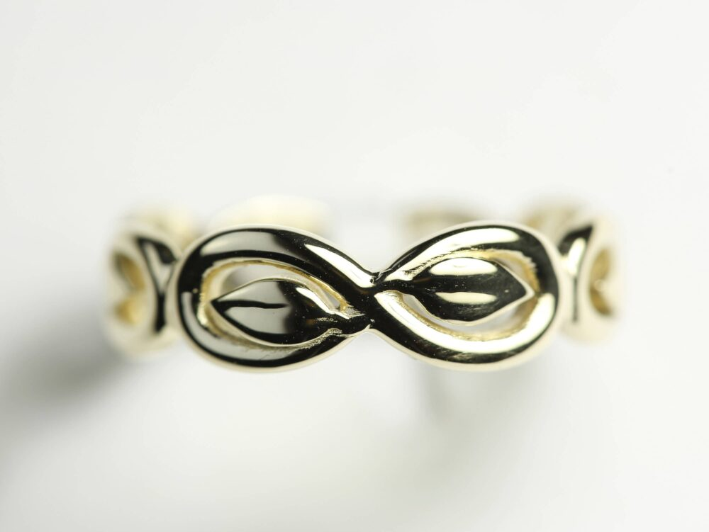 Infinity Wedding Band, Ring, Bands, Infinite Gold 14K Rings, Unique Ring