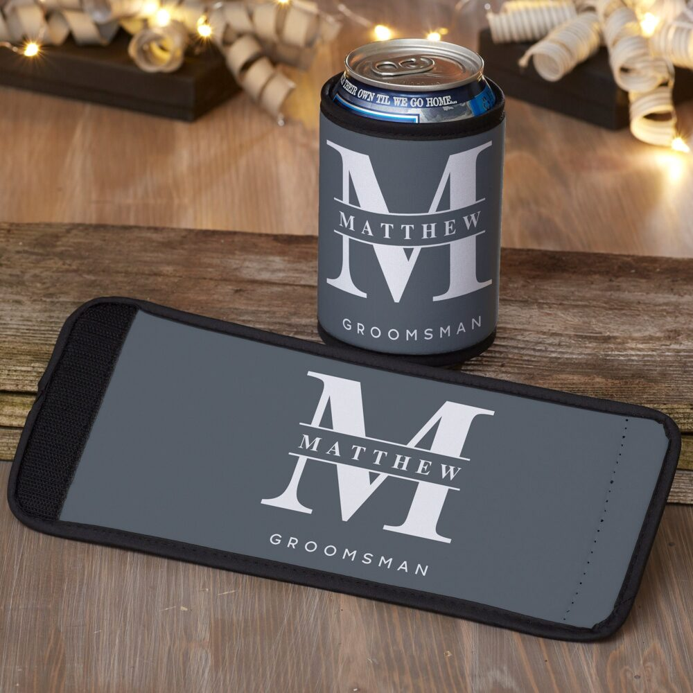 Lavish Groomsmen Wedding Personalized Can & Bottle Wrap, Party Gifts, Custom Gifts For Party